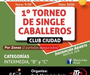 1er torneo de single caballeros - club ciudad. en Venado Tuerto
