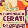 homenaje a cerati #ojobizarro #charlysastre en Venado Tuerto
